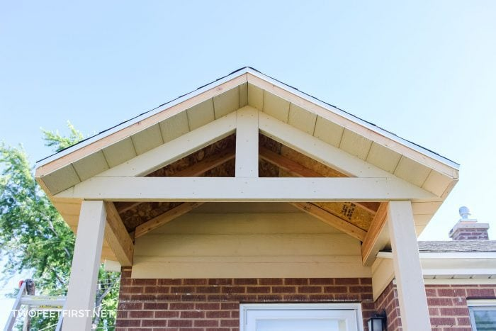 adding trim to front porch