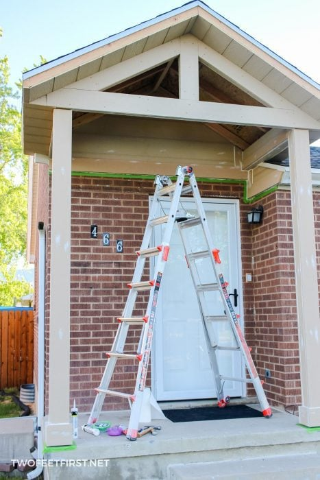 sealing seams on porch