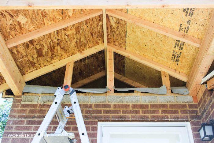 bracing porch for trim