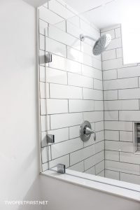 shower in basement bathroom