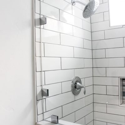 shower in basement bathroom