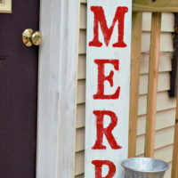 Be Merry DIY Christmas Wood Porch Sign Tutorial