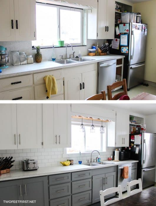 kitchen cabinet makeover on a budget
