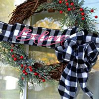 Rustic Evergreen Christmas Wreath Welcomes in the Holidays
