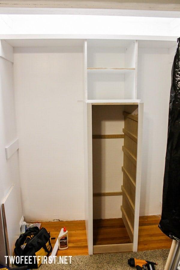 Build a closet system with drawers | DIY Closet Organizer
