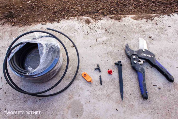 materials for drip irrigation system