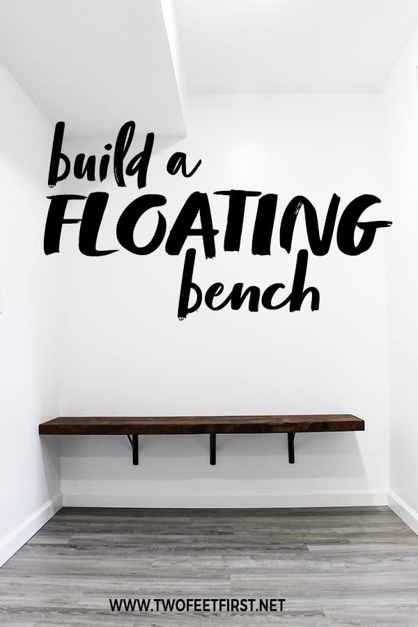 build a floating bench