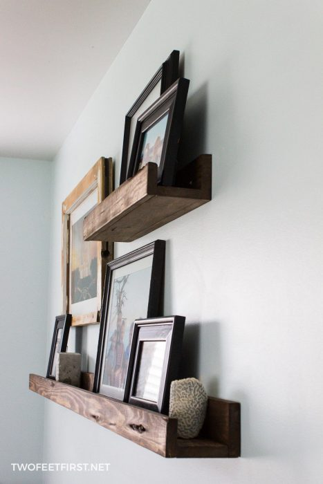 DIY picture shelf
