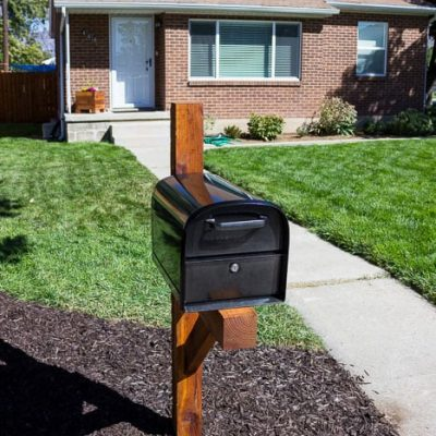 How to build a simple mailbox post.