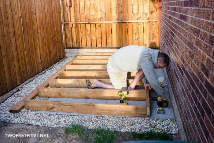 build floor for shed