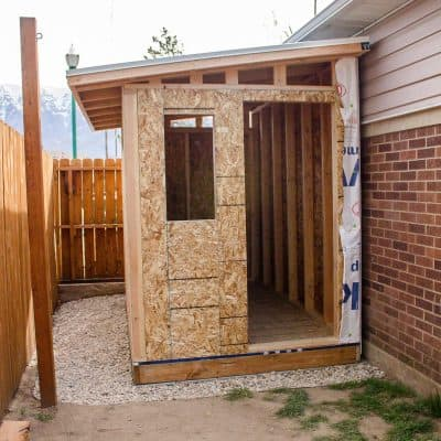build a lean-to shed roof