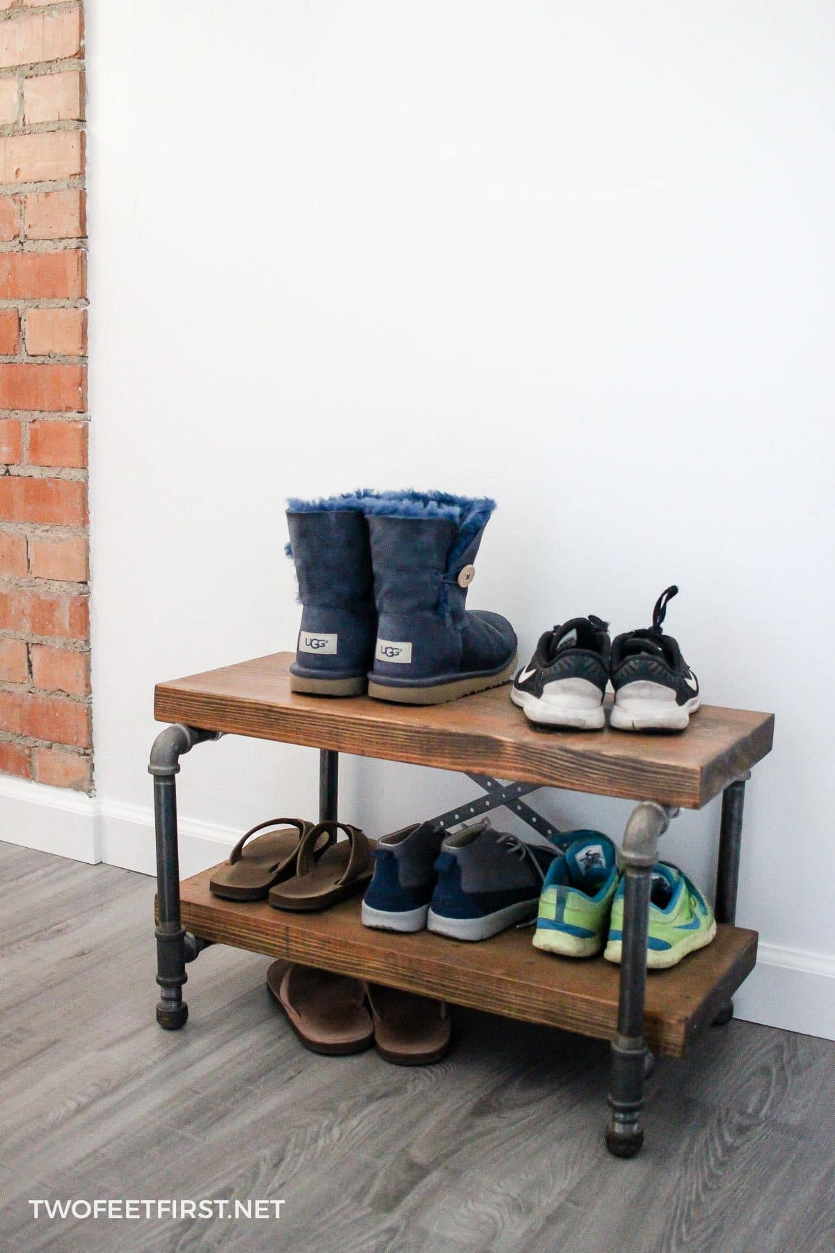 Build industrial shoe rack