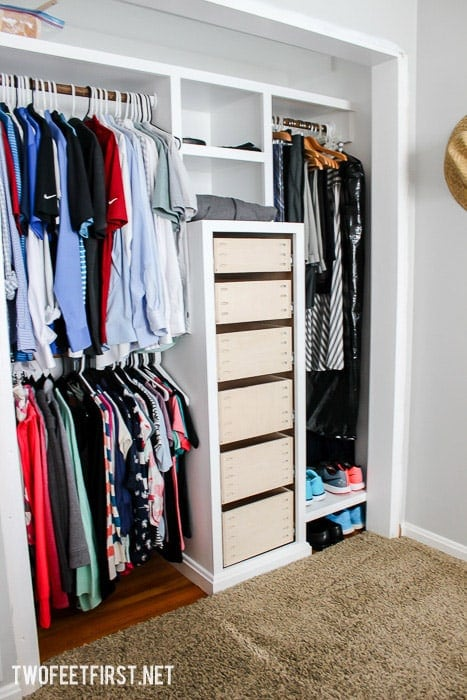 How To Build Drawers For A Closet System What