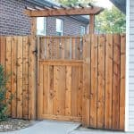 build fence pergola over gate