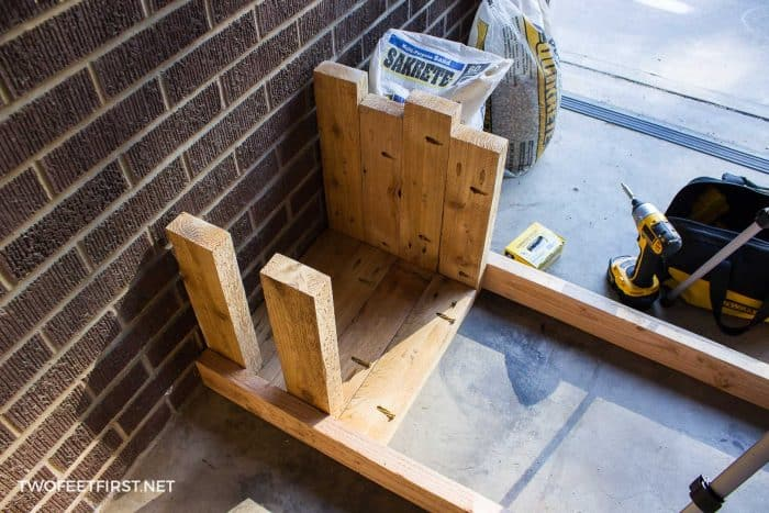 assemble sides of planter box