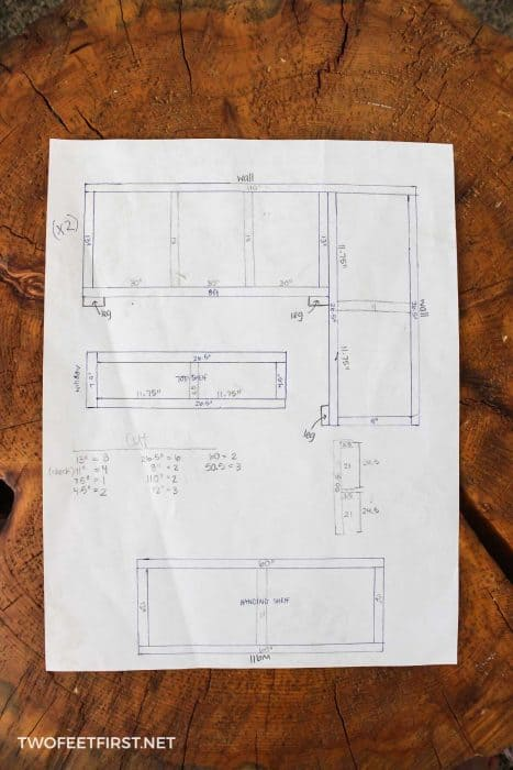 DIY storage shelves plan