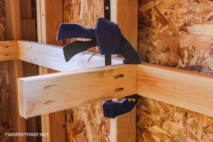 attaching 2x4 with kreg jig pockets
