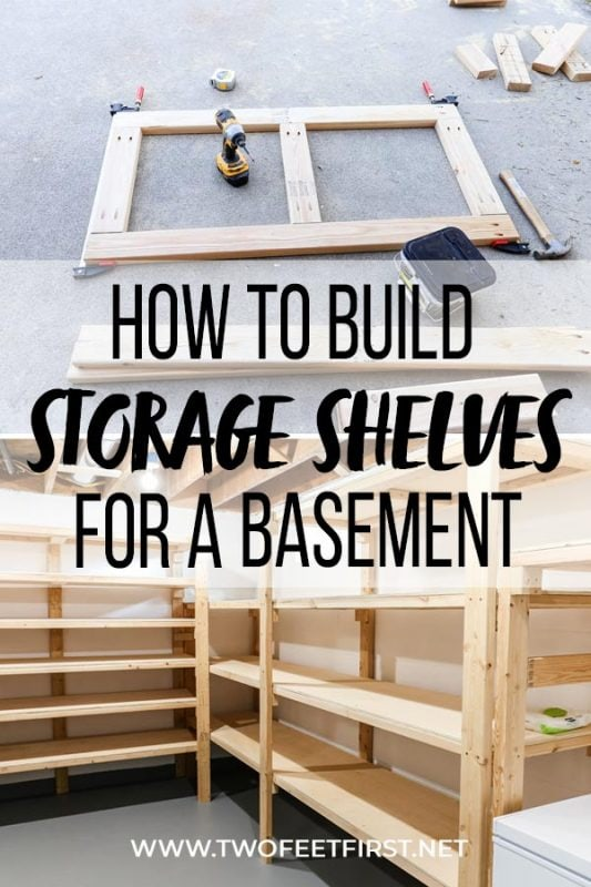 images on how to build storage shelves for a basement