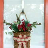 Simple Christmas Door Decor