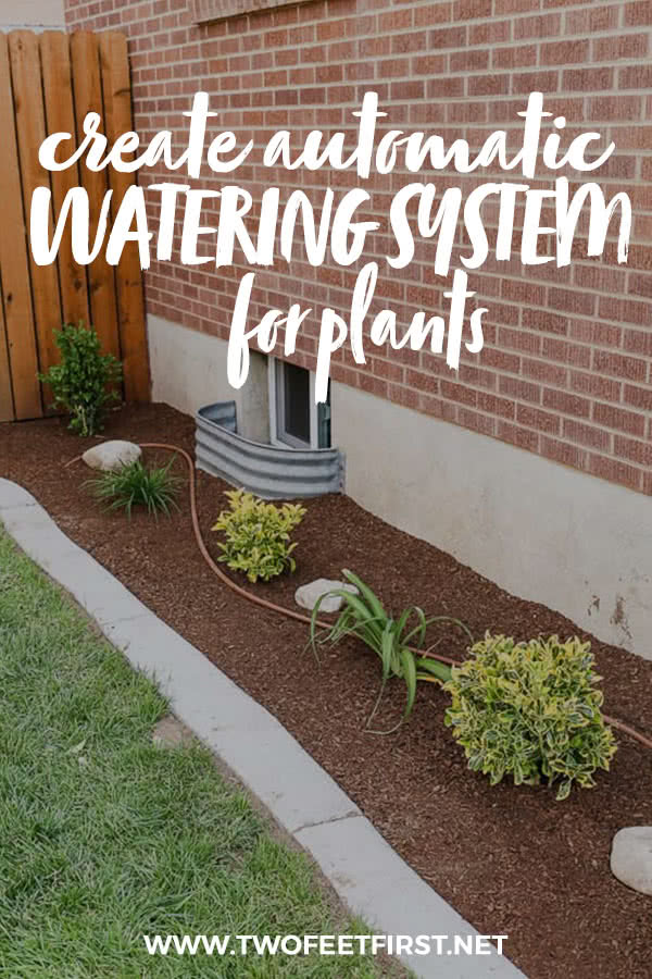 Make your life easier by installing a DIY drip irrigation system the simple way to automatically water your plants or landscaping. See how to build your own. #twofeetfirst #landscaping