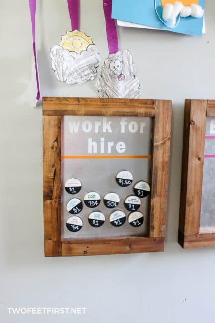 work for hire chore chart