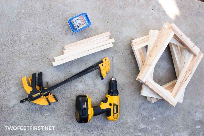 creating wood frames