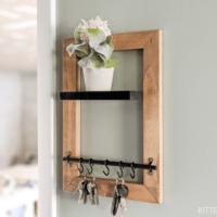 DIY Key Holder with Floating Shelf |