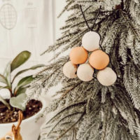DIY wooden bead tree ornaments
