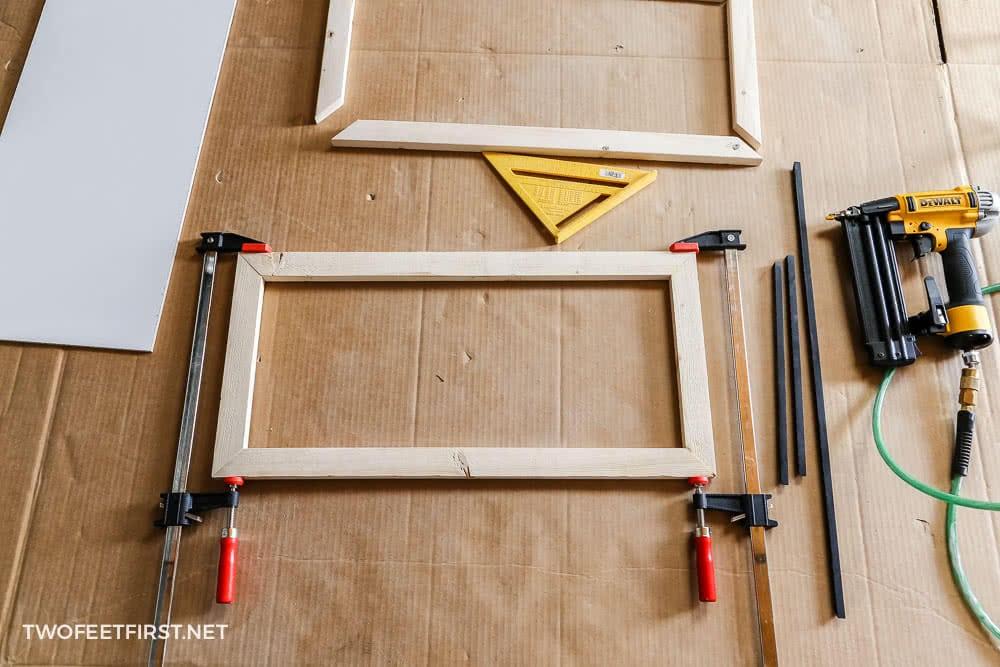 build wood frame for sign