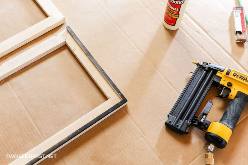 attach inside piece for wood frame