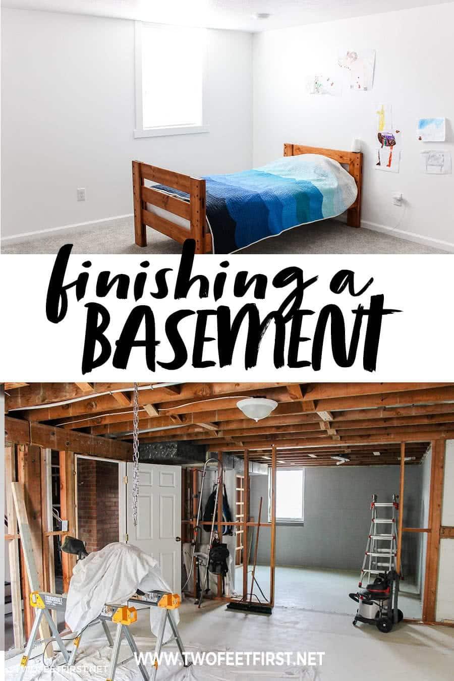 the process of finishing a basement