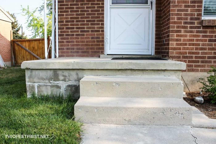 patch concrete steps