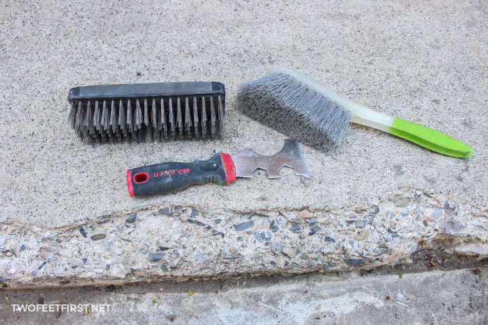 supplies to repair concrete steps