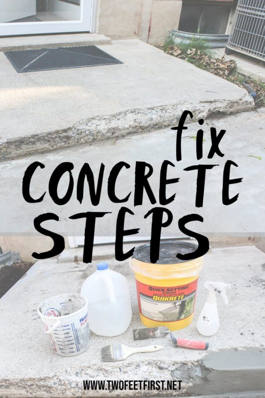 tutorial to fix concrete steps
