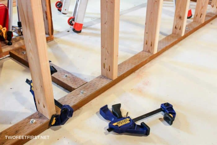 building walls with Kreg Jig