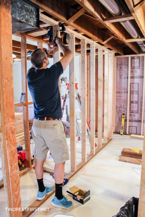 framing basement with Kreg Jig