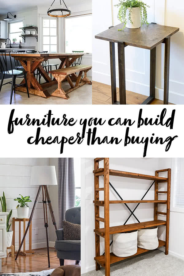 Furniture Builds You Can Build Cheaper Than Buying