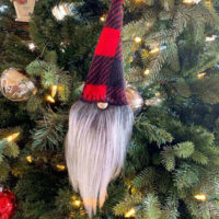 Wood Slice Ornaments / Wood Burning Design AND Gnome Ornament