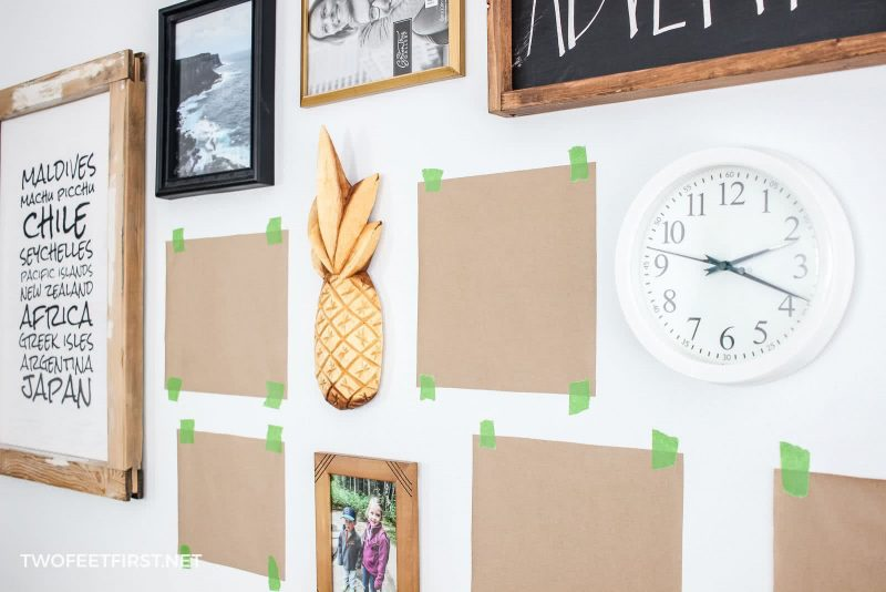 hanging pictures without nails using Command Strips