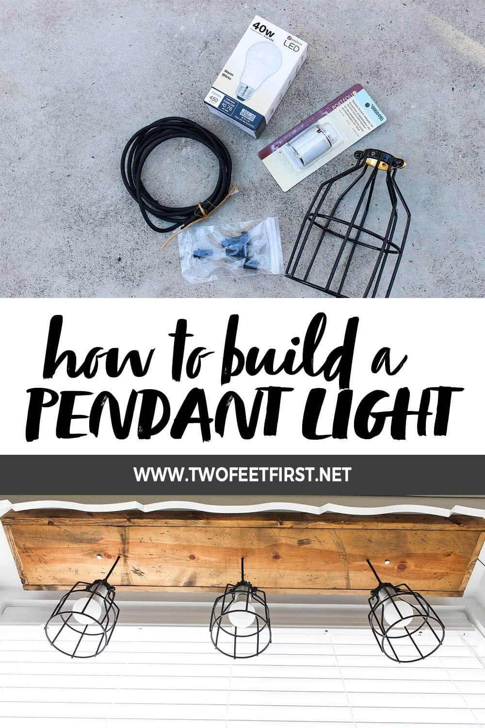 How to build a pendant light