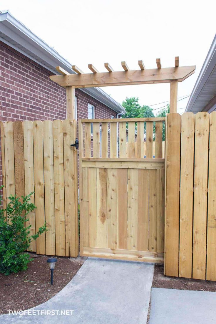 wooden gate for fence