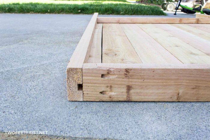 attaching wood for gate