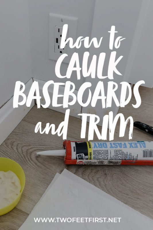 how to caulk baseboards and trim