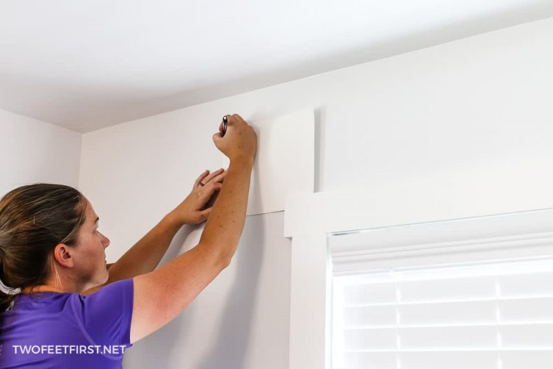 template to hang curtain rod