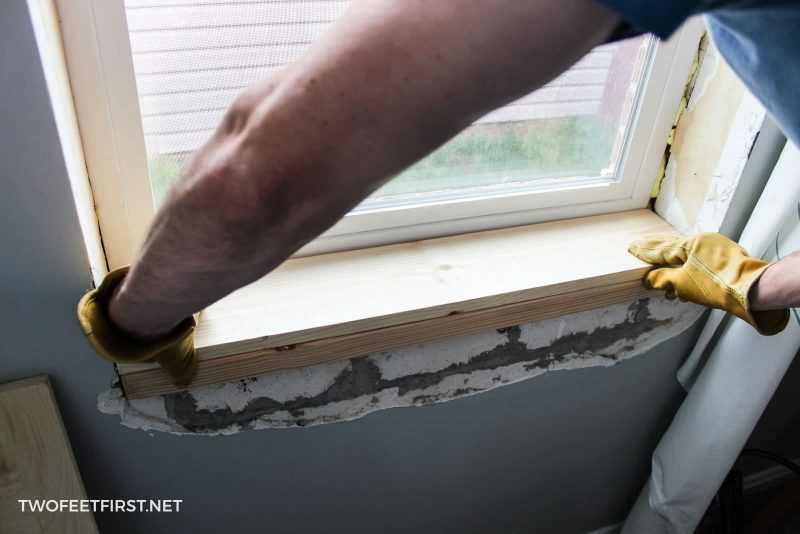 install simple window sill