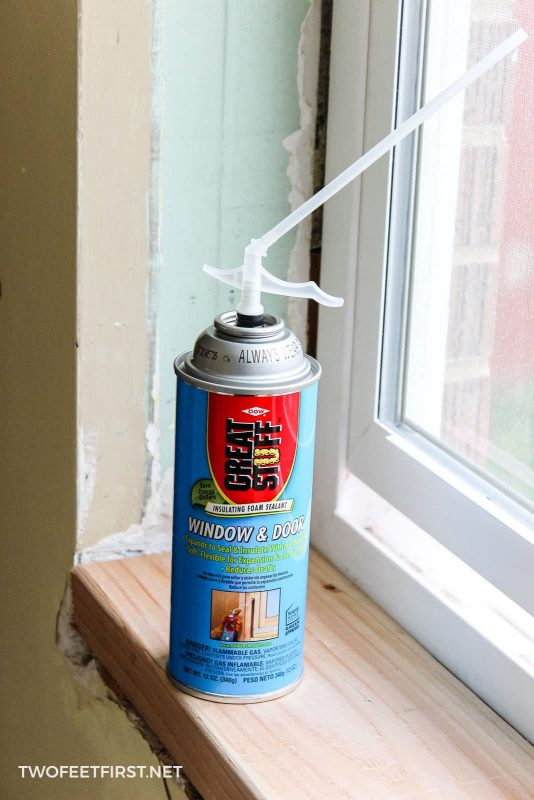 spray foam for windows