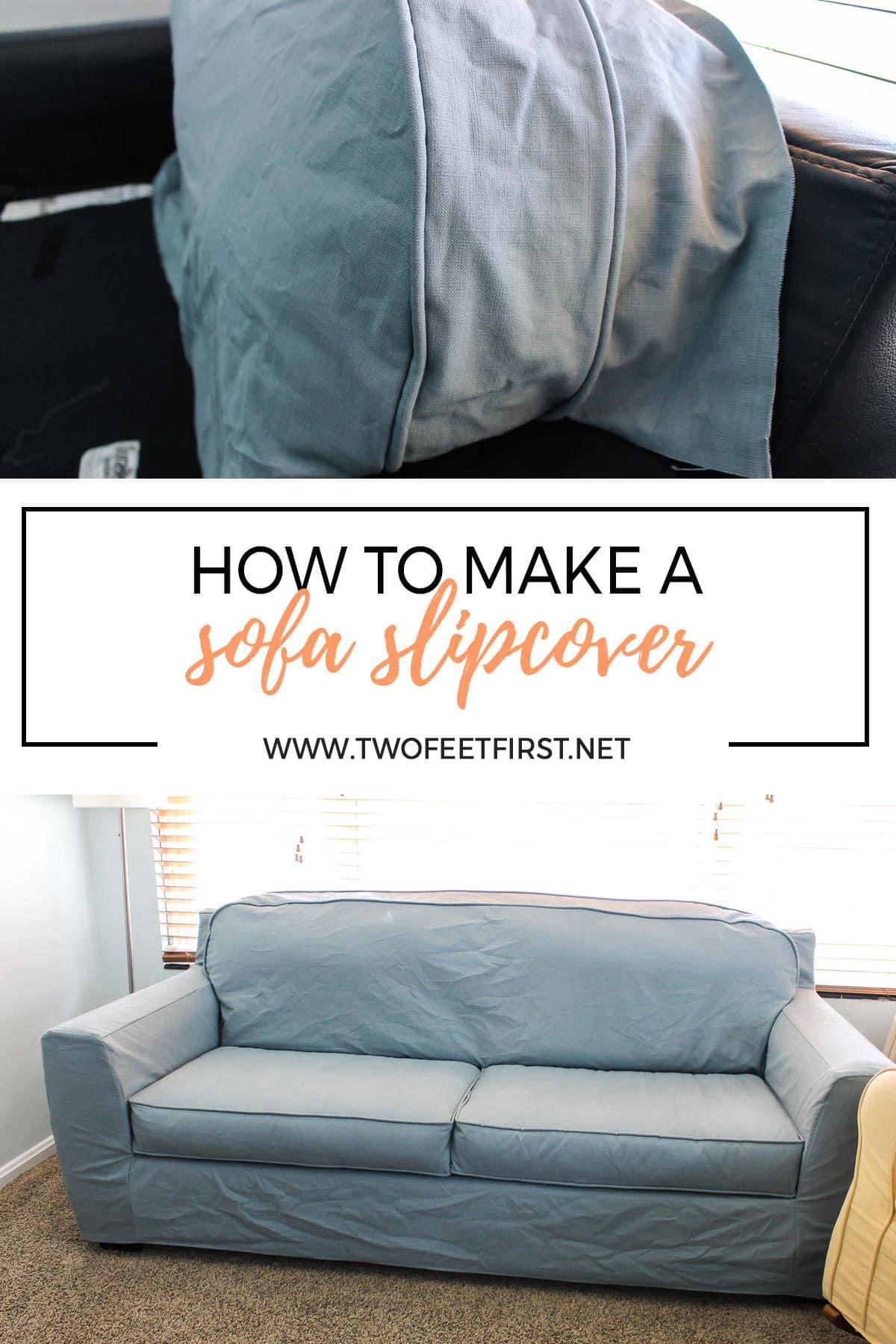 how to make a sofa slipcover