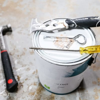 different tools you can use to open a paint can