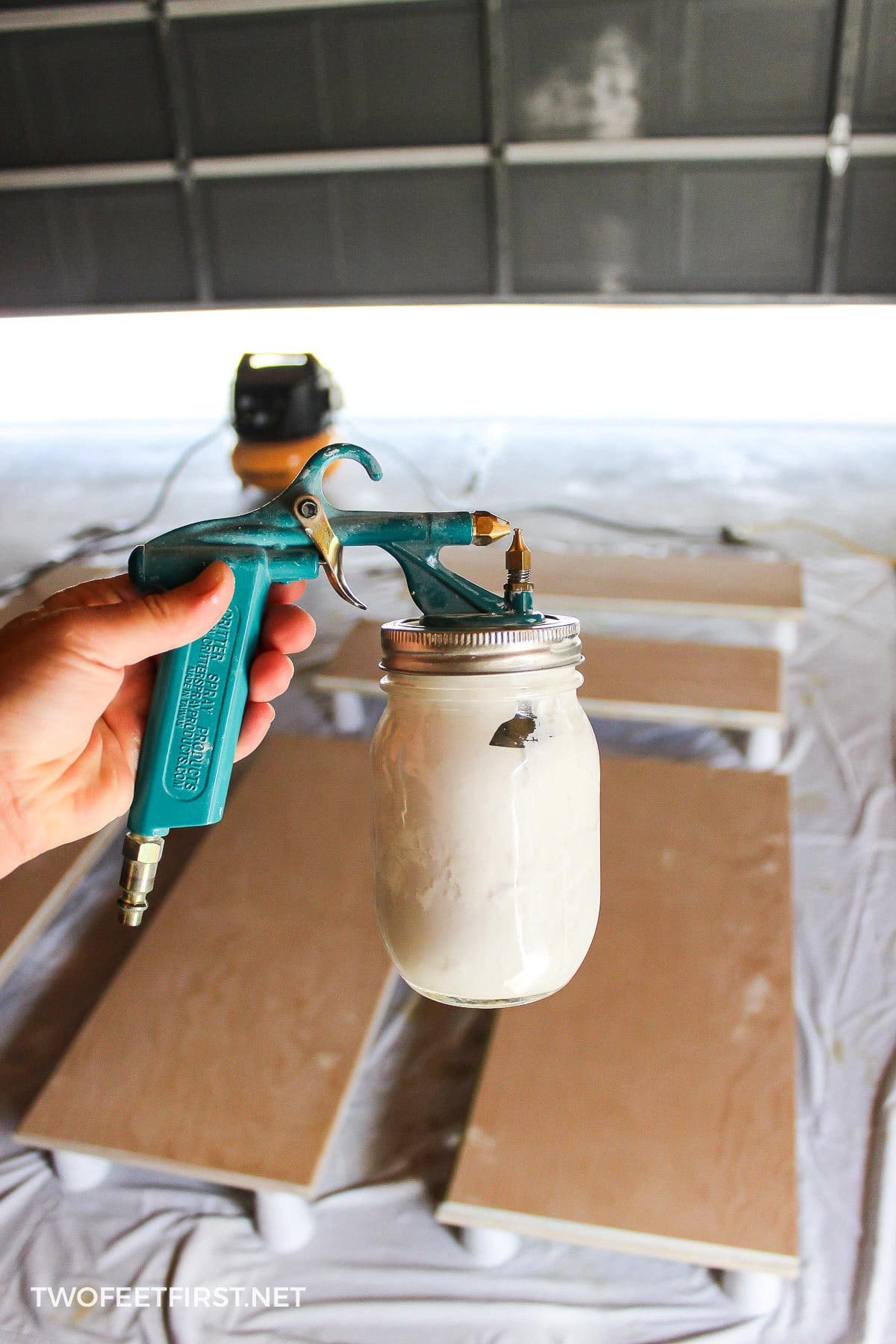 painting kitchen cabinets with critter paint sprayer
