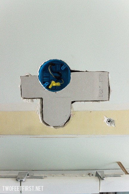 How to patch a hole in a wall.